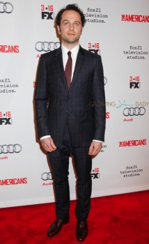 Matthew Rhys walks the red carpet for the premiere of 'The Americans