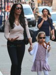 Padma Lakshmi Steps Out In NYC With Her Daughter Krishna Dell