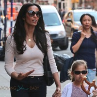 Padma Lakshmi Grabs A Bite With Her Little Lady