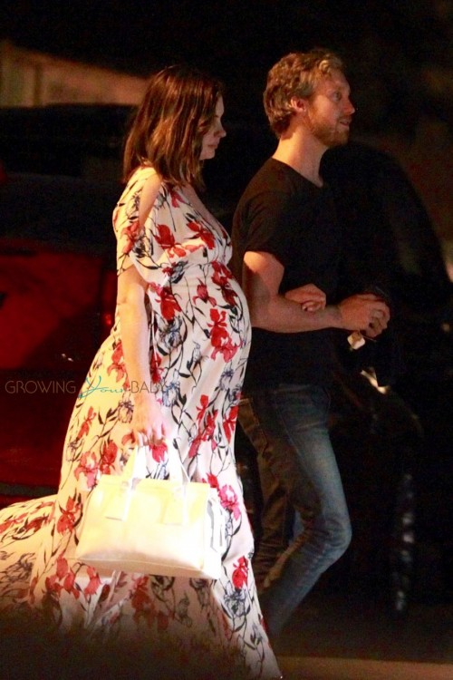 Pregnant Anne Hathaway and Adam Shulman enjoy a date night at Lucques