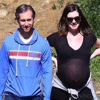 Mom-to-be Anne Hathaway Hikes The Hills With Her Husband