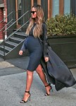 Pregnant Chrissy Teigen out in NYC