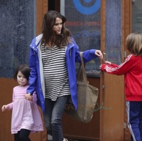 Keri Russell Visits The Doctors With Her Kids