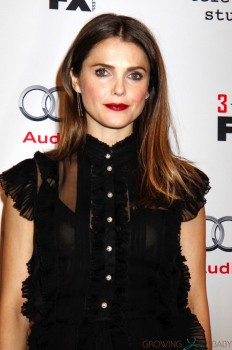 Pregnant Keri Russell walks the red carpet for the premiere of 'The Americans