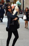 Pregnant Liv Tyler out in NYC with son Sailor Gardner.
