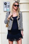 Pregnant Nicky Hilton poses for MCM