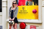 Pregnant Nicky Hilton poses for MCM in SoHo