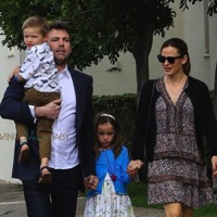 Ben Affleck and Jennifer Garner Attend Easter Service With Their Kids