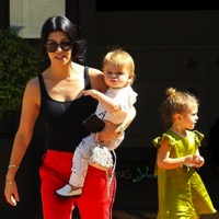 Kourtney Kardashian Steps Out With Reign And Penelope