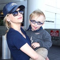 Anna Faris Arrives At LAX With Son Jack