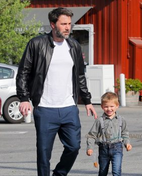 Ben Affleck at the Farmers Market with son Sam