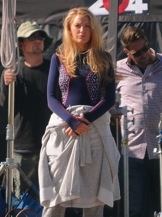 Blake Lively filming extra scenes for 'The Shallows' on the beach in Los Angeles, California on April 12, 2016
