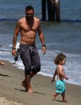 Brian Austin Green with son Bodhi at the beach in Malibu