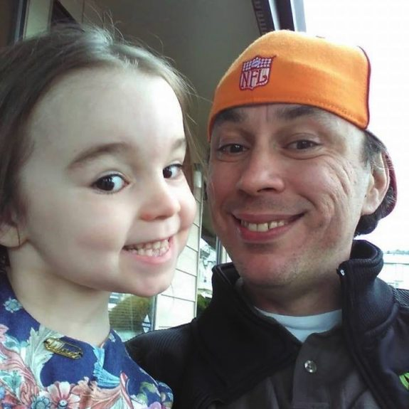 Bryan Thouvenel with daughter Harmony (Via FACEBOOK)