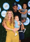 Cacee Cobb and Donald Faison with kids Wilder and Rocco at SafeKids Day