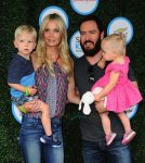 Catriona McGinn, Mark-Paul Gosselaar with kids Dekker & Lachlan at Safe Kids Day