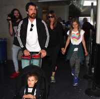 Christian Bale Arrives At LAX With His Family!