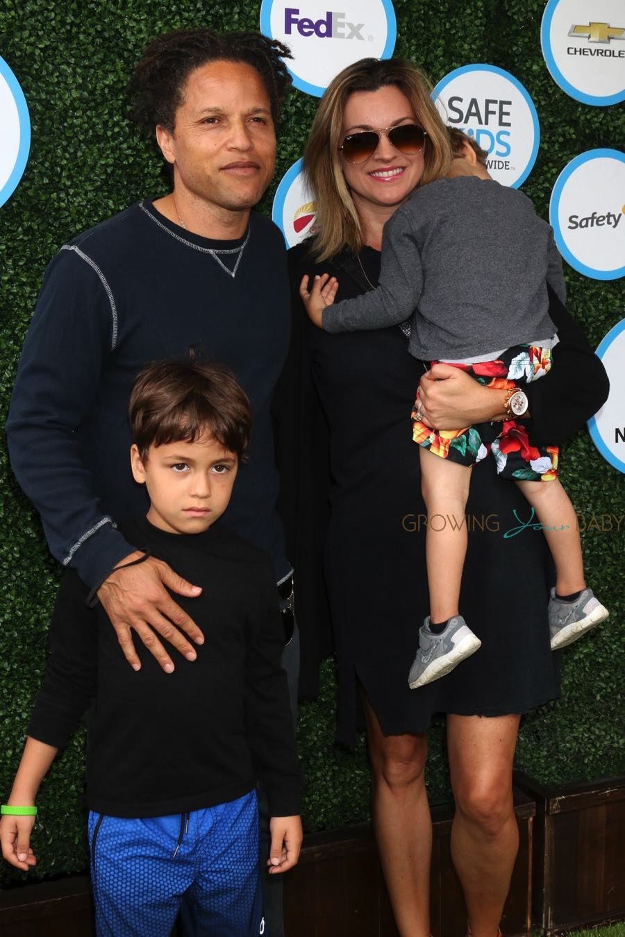 Cobi Jones With Wife Kim Reese And Kids At Kids Safe Day