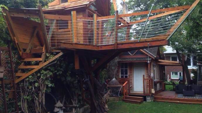 Dad Builds 30K Treehouse For Kids; City Tells Him To Take It Down