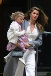 Gisele Bundchen leaving the Church of St. Thomas in NYC with daughter Vivian
