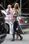 Gisele Bundchen leaving the Church of St. Thomas in NYC with kids Ben and Vivian