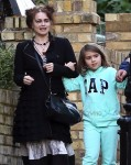 Helena Bonham Carter Steps Out With Daughter Nell Burton