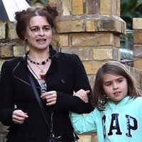 Helena Bonham Carter Strolls In London With Her Daughter Nell