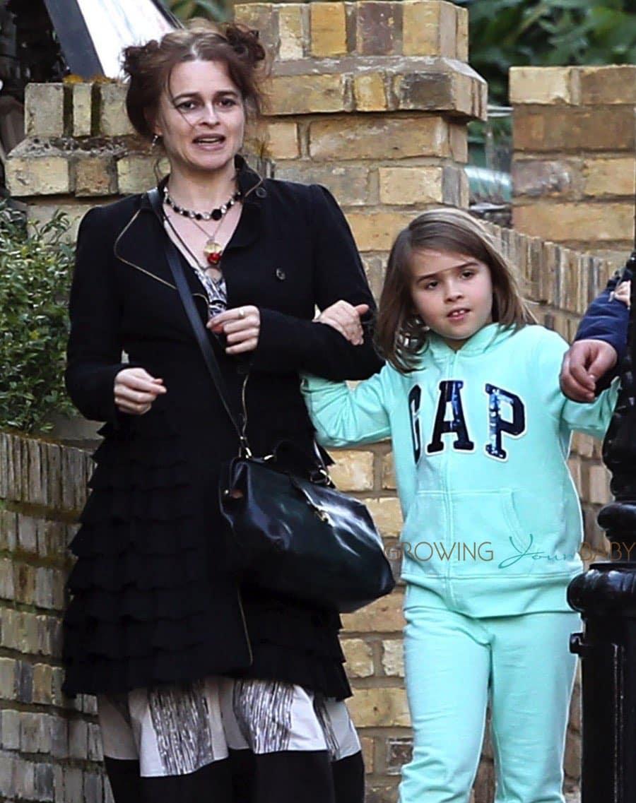 Helena Bonham Carter Steps Out With Daughter Nell Burton