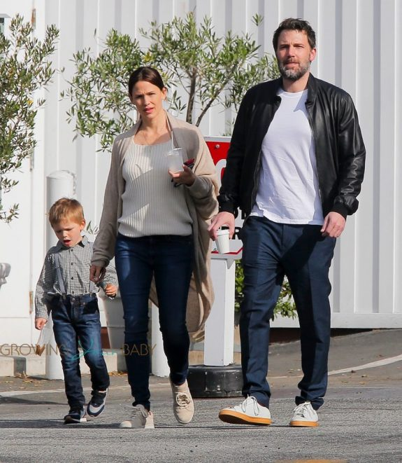 Jennifer Garner and Ben Affleck at the Farmers Market with son Sam