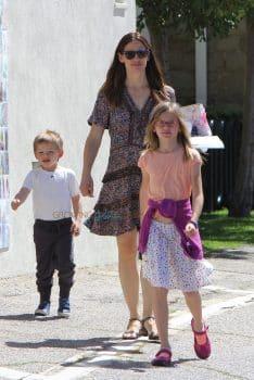 Jennifer Garner attends church with son Sam and daughter Violet on her birthday
