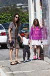 Jennifer Garner attends church with son Sam and daughter Violet on her birthday