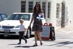 Jennifer Garner with son Samuel Affleck leaving church