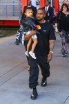Kanye Carries North West after Museum Day at LACMA