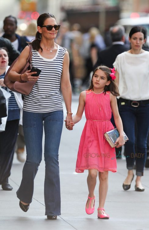 Katie Holmes & Suri Cruise Out in the City on Suri's Birthday