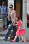 Katie Holmes and Suri Cruise Out in the City on Suri's Birthday