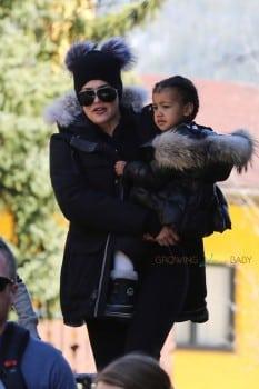 Khloe Kardashian in Vali Colorado with niece North West