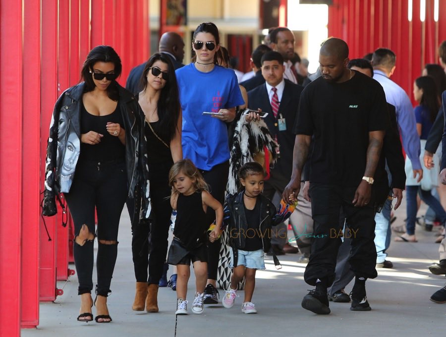 Kim Kardashian, Kanye West, Kourtney Kardashian, Kendall Jenner, North West and Penelope Disick at LACMA