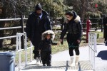 Kim Kardashian and Kanye West with daughter North in Vail Colorado
