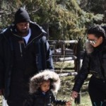 Kim Kardashian and Kanye West with daughter North in Vail Colorado t