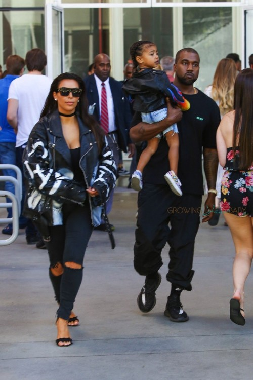 Kim Kardashian and Kanye enjoy a Museum Day at LACMA with their daughter North