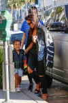 Kim Kardashian and daughter North at LACMA