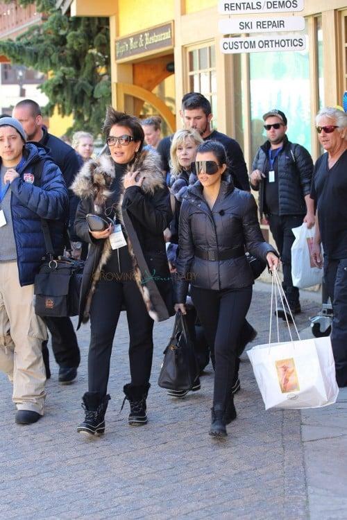 Kourtney Kardashian shops in Vail Colorado with mom Kris Jenner