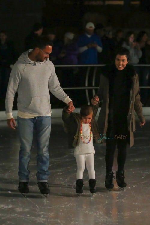 Kourtney Kardashian takes daughter Penelope DIsick skating in Vail Colorado