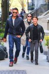 Mark Cosuelos steps out with son Joaquin in NYC