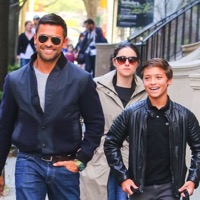 Boys Day Out!  Mark Consuelos Steps Out With Son Joaquin