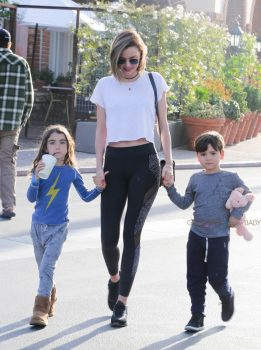 Miranda Kerr steps out with son Flynn Bloom in LA
