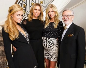 Nicky Hilton, Paris Hilton Inga Rubenstein and Dominique Chevalier at the Preview Dinner for the upcoming Biennale Des Antiquaires
