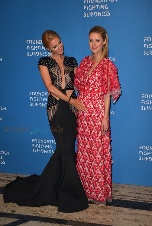 Paris Hilton, Pregnant Nicky Hilton Rothschild attending the 2016 Foundation Fighting Blindness World Gala