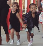 Penelope Disick and North West at the LCMA