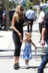 Petra Eccleston Stunt with her daughter Lavinia out in LA